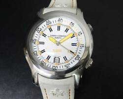 Authentic Cuervo Y Sobrinos Watch Robust Busedor White Dial Men's Size Automatic