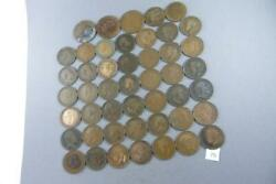 Lot Of 47 Half Penny And One Penny Georgivs And 1 Victoria 1902-1936 Coin 75
