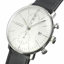 Junghans Max Bill Chronoscope Automatic Chronograph Menand039s Watch Stainless