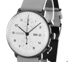 Junghans Max Bill Chronoscope Chronograph Automatic Men's Watch Leather
