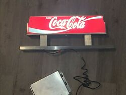 Vintage Collectible Lighted 1994 Coca-cola Fountain Sign