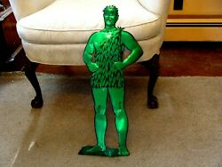 Rare 1960's Vintage Jolly Green Giant Cut-out Display Sign 26 High
