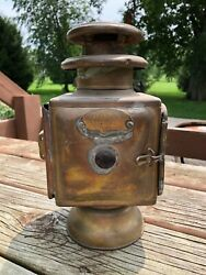 Early Auto Vintage Dietz Special 2 Old Lamp Parts Light Lantern Brass Patina