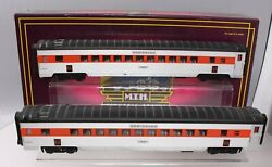 Mth 20-2197b O New Haven 70' Abs Ribbed Streamlined Coach Set Set Of 2 Ex/box