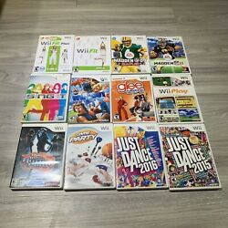 Lot Of 12 Nintendo Wii Games Tested Bundle Family Kids Fun Just Dance, Madden