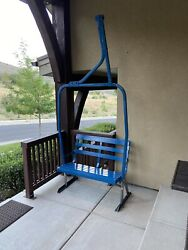 Fully Restored Vintage Double Ski Lift Chair Swing