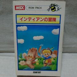 Msx Indian Adventure Game Cartridge Manual And Boxed Set Tested From Japan