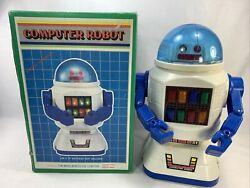 1985 Miaw Jen Toy Computer Robo Battery Op Taiwan Woolworth Co W Box For Parts
