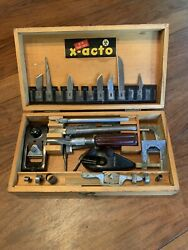 Vintage X-acto Knife 86 Hobby Chest With Dovetail Box Plane And Spokeshave