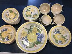 Rare Vntage 1941 Red Wing Pottery Brittany Eight6 Piece Place Settings 48 Pc