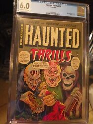 Haunted Thrills 11 Cgc 6.0 Ow/w Nazi Death Camp Story + Hanging Panel Scarce Pch
