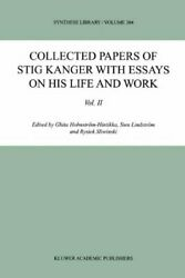 Collected Papers Of Stig Kanger With Essays On , Holmstrom-hintikka, Ghita,,