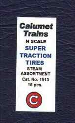 Traction Tires Calumet Trains 1513 N Scale Steam Assortment 18 Pcs. New