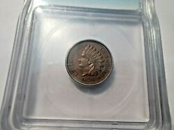 1859 Icg Ms62 Copper Nickel Indian Cent