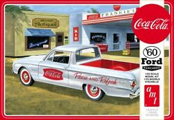 Amt 1960 Ford Ranchero W/coke Chest And 2 Crates Coca-cola Model Kit 1/25 1189