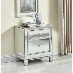 Mirrored Antique Silver Living Dining Room Bedroom Bathroom Dresser End Table
