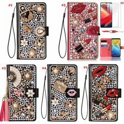 For Atandt Fusion Z/motivate/maestro Plus/radiant Max Bling Wallet Leather Case