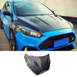 Replace Carbon Fiber Engine Hood Cover Full Carbon For Ford Focus St 2015-2018