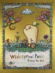 Marq Spusta Widespread Panic Tunes For Tots Art Print Gold Foil Variant S/n /30