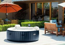 6 Person Deluxe Pure Spa Jacuzzi Hot Tub Bubble Jets Filter W/ Cover And Headrest