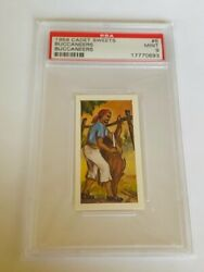 Cadet Sweets Trading Card 1959 Pirate Buccaneer Psa 9 Butcher Knife Cow 6 Fence