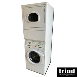 And03916 Speed Queen Washer Electric Dryer Combo Stack Opl Laundry Unimac Huebsch