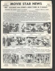 Movie Star News Mail Order Sales Catalog Supplement Bb 1960and039s-irving Klaw-8 ...