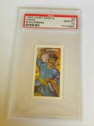 Cadet Sweets Trading Card 1959 Pirate Buccaneer Psa 10 Captain Cheng 9 Chinese