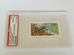 Cadet Sweets Trading Card 1959 Pirate Buccaneer Psa 10 Barbary Cannon War Ships