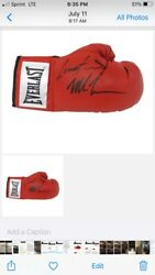 Signed Dual Boxing Glove Mike Tyson And Lennox Lewis Authentic hologram