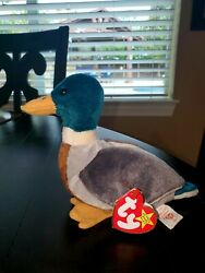 Ty Beanie Baby Jake The Drake Duck 1997 1998 Tag Errors-stamped-great Condition