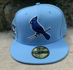 New Era 59fifty Fitted Cap St. Louis Cardinals Royal Blue Bottom Hat Club 7 5/8