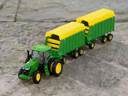Ertl 45684 164 John Deere 7290r Tractor With Two Forage Wagons Lp70546