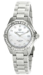 New Tag Heuer Aquaracer S-steel White Mop Dial Womenand039s Watch Wbd1315.ba0740