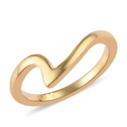 Solid 925 Sterling Silver Yellow Gold Plated Ring For Christmas Gift Wedding
