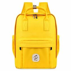 School Backpacks for Teen Girl Women Travel Laptop Student Backpack with Yellow $45.90