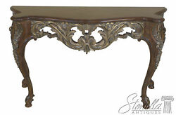 46084ec Italian Carved Console Table W. Gold Highlights