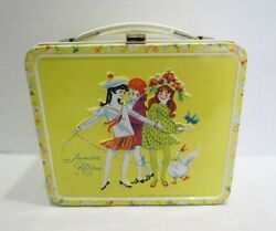 Junior Miss 1970 Metal Lunch Box Lunchbox By Aladdin Yellow Super Clean