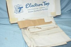 Vtg Nos 1973 1974 Lincoln Mk Iii 3 Vinyl Roof Top Cavallry Twill Fitted Tan