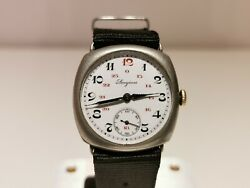 Antique Trench Ww1 Military Rare Collectible Swiss 32mm Menand039s Watch Longines