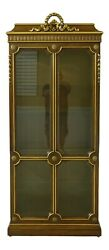 32966ec Karges French Style Lighted Curio Display Cabinet