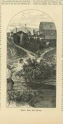 Antique Mine Miner Miners' Hut House Rock Springs Wyoming Small Old Art Print