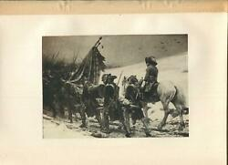 Antique H. Jacquier Hero's Shroud Horse Burial Soldiers Was Mourning Flag Print