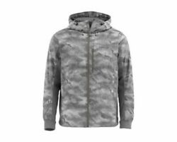 Simms Kinetic Jacket Hex Camo Boulder - Closeout Size Small