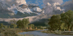 Phillip Philbeck In The San Juan Mountains Giclee On Canvas 60x30