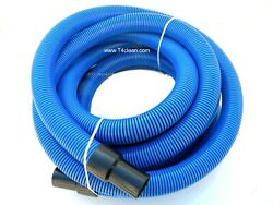 Carpet Cleaning 25and039 Crush Proof Vacuum Hose 1 1/2 Blue