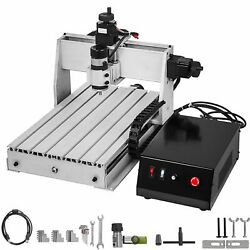 3/4 Axis Cnc 6040/3040/3020 Usb Router Engraving Machine Mill Wood Cutting Carve