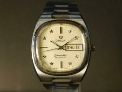 Omega Seamaster Automatic Day Date Square Star Dial Ss 36mm Authentic Vintage