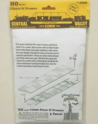 Central Valley 40' Freight Car Floors And Frames Kit 1000 Model Railroad Equipment
