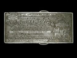 Ue03172 Cool Vintage 1976 This Is A Pair Of Levi's Advertisement Belt Buckle